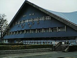 大田区体育館にて